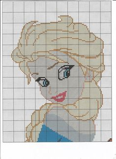 Anna & Elsa Cross Stitch Chart por LittleKissesCrafts en Etsy
