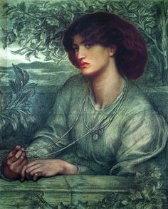 1868 ~ Aurea Catena, Portrait Of Jane Morris ~ Dante Gabriel Rossetti (English, 1828-1882)