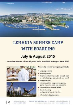 great Summer Camp enrolment at Lemania College - one of the best boarding schools in Switzerland! http://www.lemania.ch/en/cours-dete/lakeside-campus/summer-camp/