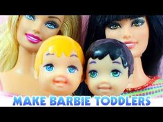 How to make a toddler boy for barbie - Easy Doll Crafts - YouTube