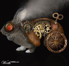 Steampunk Bunny Collage!