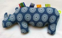 Items similar to Nomvula - Rhino Fabric Toy - Teething and Tactile - Handmade in South Africa with Love! on Etsy Baby Toys, Kids Toys, Fabric Toys, Fabric Crafts, Felt Flower Pillow, Soft Toys Making, African Babies, African Crafts, Sewing To Sell