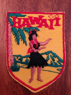Hawaii Vintage Travel Patch by Voyager by HeydayRetroMart on Etsy, $7.00