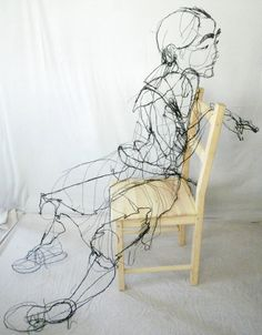 David Oliveira - Wire Sculptures That Look Like Sketches http://davidmigueloliveira.blogspot.pt/