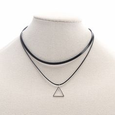 Find More Choker Necklaces Information about Women Fashion Short Choker Necklace Multilayer Black Leather Faux Suede Collar Regular Triangle Triangle Pendant Necklace,High Quality choker fashion necklaces,China choker necklace Suppliers, Cheap necklace multilayer from Winslet&Jean on Aliexpress.com
