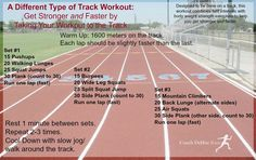 Here's a different type of track workout. It will not only make you faster, it will make you stronger (and improve your core strength). Speed Workout, Hiit Workout At Home, Workout Schedule, Track Sprint Workout, Track Workouts For Sprinters, Cardio, Workout Routines, Workout Plans, Workout Gear