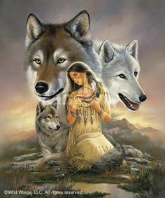 native american indians Thank You & Appreciation Card - You're a beautiful spirit Native American Wolf, Native American Paintings, Native American Wisdom, Native American Pictures, Native American Beauty, American Indian Art, Native American History, American Indians, Art Indien