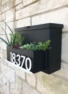 Drop Me A Line Mailbox Planter Modern Mailbox House