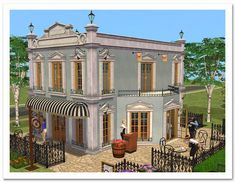 Old Mason Architecture set (donation) The Sims 2, Sims 3, Sims 2 House, Casas The Sims 4, Sims Building, Free Sims, Night Life, Holi, The Neighbourhood