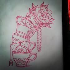 Image result for american traditional tattoos teacup