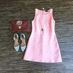 #ootd #shop #shopbluetique #dresses #pink #monograms