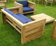 Chairs and Tables - Garden Furniture - Asmara Teak Garden Furniture Set with Blue Cushions, £1,149.99 (http://www.chairsandtables.co.uk/asmara-teak-garden-furniture-set-with-blue-cushions/)