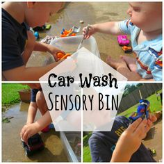 Car Wash Sensory Bin.