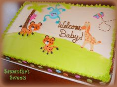Safari Boy Baby Shower Cakes and Cupcakes - Bing images Safari Baby Shower Cake, Baby Shower Cakes For Boys, Baby Shower Games, Baby Shower Parties, Baby Boy Shower, Baby Showers, Jungle Theme Parties, Safari Birthday Party, Safari Theme