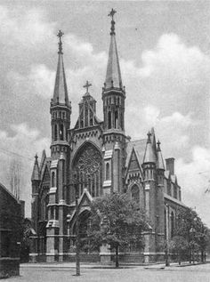 St. Paul's Catholic Cathedral ~ Birmingham, Alabama - 1900  We used to take field trips to this building.  Beautiful.