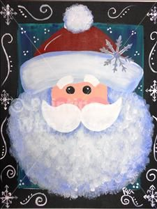 Snowy Santa - SOLD OUT! - North Little Rock Painting Class - Painting with a Twist - Painting with a Twist