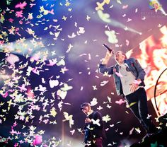 The best Coldplay concert photo I have seen and one of the best concert photos, period.  Chris Martin - Coldplay by Peter Neill, via 500px
