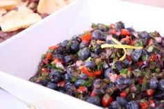Blueberry Salsa - a nice change from the tomato version
