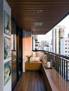45 Trendy Seating Ideas For Small Spaces Built Ins Small Balcony Design, Small Balcony Decor, Small Patio, Balcony Ideas, Patio Ideas, Balcony Garden, Backyard Ideas, Garden Ideas, Apartment Balconies