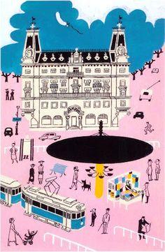 Stureplan, Stockholm by Olle Eksell 1939