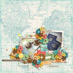 All Around the World: BUNDLE Studio Flergs & Digital Scrapbook Ingredients -  Digital Scrapbook Ingredients - Miscellaneous 2: Template
