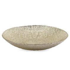 IMAX Fabric Glass Bowl - 83121. IMAX Fabric Glass Bowl - 83121 With the texture of a dense fabric and sheen of a fine silk taffeta, this food safe glass bowl is a silver plated artisan glass piece. Product Specifications Dimensions 13 D x 2.5 H (inches) I.. . See More Bowls at http://www.ourgreatshop.com/Bowls-C740.aspx