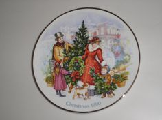 1990 bringing christmas home 22 kt gold trim avon christmas collectors plate via