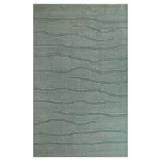 KAS Rugs Modern Simplicity 8-ft x 10-ft Rectangular Blue Transitional Area Rug