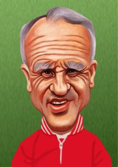 Liverpool manager Bill Shankly in cartoon style in Liverpool Fc Managers, Ynwa Liverpool, Liverpool History, Liverpool Fans, Liverpool Football Club, Cartoon Faces, Cartoon Styles, Liverpool Fc Champions League, You'll Never Walk Alone
