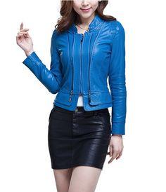Nueva  chaqueta de cuero  para mujer . chaqueta de ocio de la motocicleta