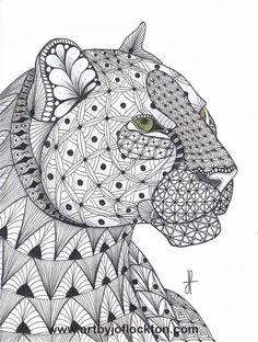 Tangled Leopard, original art, $19.25