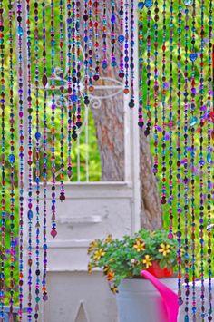 Perlen Vorhang hängende Perlen böhmische Vorhang Boho Tür