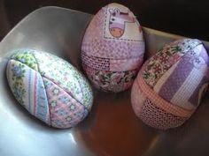 Ovos forrados com tecido