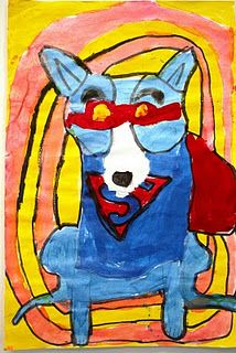 Blue Dog Art Lesson / George Rodrigue