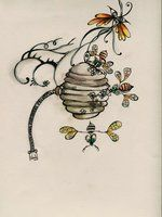 bee hive by ~lindzb on deviantART