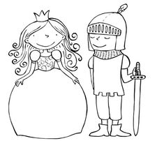 Prince and princess Colouring Pages, Coloring Sheets, Coloring Books, Fairy Tale Theme, Fairy Tales, Dragons, Knight Party, Dragon Party, Cardboard Crafts