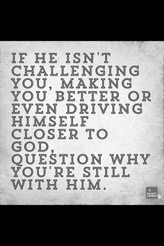 If he doesn't bring you closer to God than he IS keeping you from Him. There is no between..