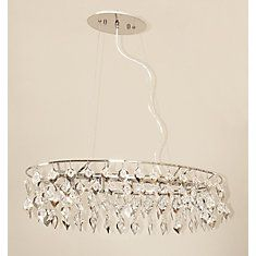 Suspension 5 Lights Chrome/Jewels Inserts Luxembourg Collection