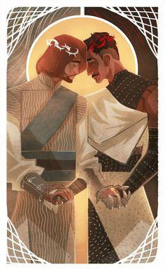 Inquisitor and Dorian http://holyshitdragonage.tumblr.com/archive