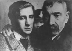 Yugoslav partisan Stevan Kojic poses with his father at their final meeting before his execution for involvement in the resistance. 1941.