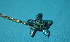Cute turtle necklace! Esty.com