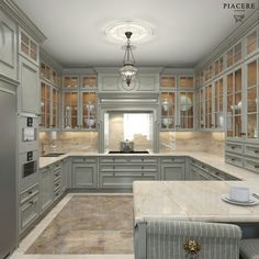 Kitchen lighting design done right can make a big difference in enjoying your kitchen. cabinets decor ideas top of Kitchen Lighting Design, Luxury Kitchen Design, Best Kitchen Designs, Interior Design Kitchen, Room Interior, Grey Kitchens, Luxury Kitchens, Cool Kitchens, Tuscan Kitchens