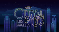 Colorful Typographic Neon Signs For Famous U.S. Cities - DesignTAXI.com