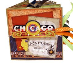 Chicago Scrapbook Windy City Travel Paper Bag by apicketfencelife, $32.00