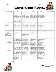 Fourth Grade Flipper: Fun Friday, Book Reviews, and FREEBIE rubric!!
