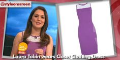 Want to know where Laura Tobin got her dress from on Good Morning Britain? Style on Screen can tell you! Good Morning Britain, Lace Insert, Purple Dress, Lace Dress, How To Wear, Dresses, Style, Vestidos, Swag
