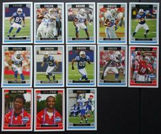 2006 Topps Indianapolis Colts Team Set of 13 Football Cards Football Cards, Baseball Cards, Indianapolis Colts, The Unit, History, Ebay, Soccer Cards, Historia, History Books