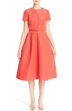 Carolina Herrera Belted Silk Faille A-Line Dress available at #Nordstrom
