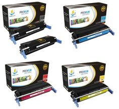 Catch Supplies Replacement HP 641A toner cartridge 5 pack set |2 Black Q9720A, Cyan Q9721A, Yellow Q9722A, 1 Magneta Q9723A| compatible with the HP Color LaserJet 4600, 4610, and 4650 printer series