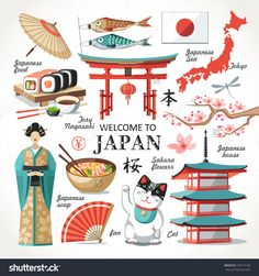 Find Welcome Japan Capital Set Red Collection stock images in HD and millions of other royalty-free stock photos, illustrations and vectors in the Shutterstock collection. Japanese Culture, Japanese Art, Maps For Kids, Kids Around The World, Maneki Neko, Scrapbook, Japan Fashion, Travel Posters, Illustration Art